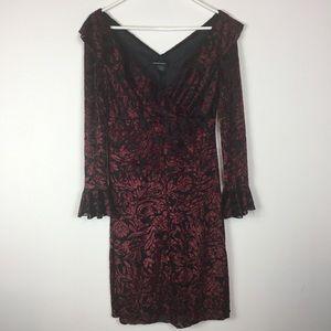 Moda International Velvet Burnout BellSleeve Dress